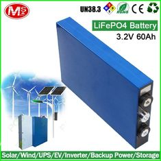 China Ultra Thin Prismatic Lithium Battery Cells LiFePO4 3.2V 60Ah For UPS / EV / Inverter supplier