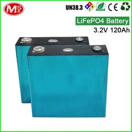 China LiFePO4 Prismatic Battery Cell / Rechargeable Solar Battery Pack 3.2V 120Ah supplier