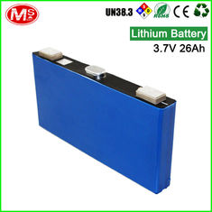 China Solar Prismatic Lithium Battery Cells / 3.7 V 26Ah Lithium Ion Rechargeable Battery supplier