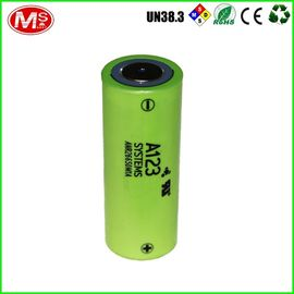 China LiFePO4 26650 Lithium Battery Cells , A123 Cylinder Lithium Ion Battery For Mouse supplier