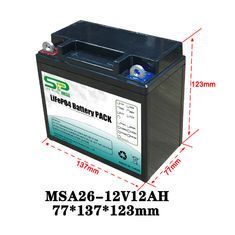 China Long Lasting 12 Volt Lithium Battery Pack , 12v Battery Pack For Led Lights supplier