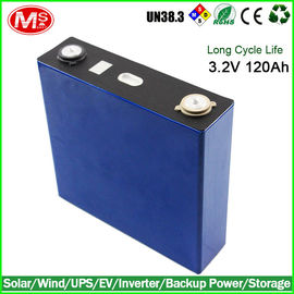 China Hi Power Lifepo4 Battery Cells , Flat Lifepo4 Deep Cycle Battery Rohs UL Approval factory