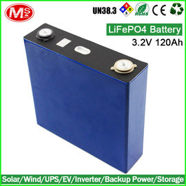 China Long Lasting LiFePO4 Battery Cells 3.2V 120Ah For Solar Energy Power Backup distributor