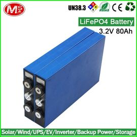China Li-Polymer Prismatic Battery Cell / Lifepo4 Ev Battery Pack 80Ah 3.2V distributor