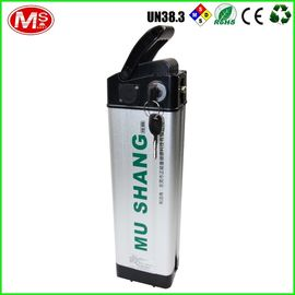 China Silver 48v 10ah Ebike Battery , LiFePO4 Rechargeable Battery For Electric Bike factory